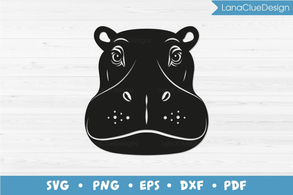 Hippo SVG Cut File example image 1