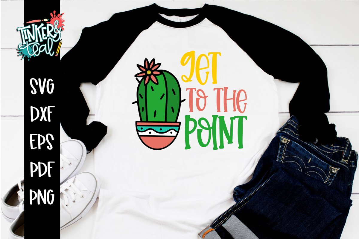 Get To The Point Funny Cactus SVG example image 1