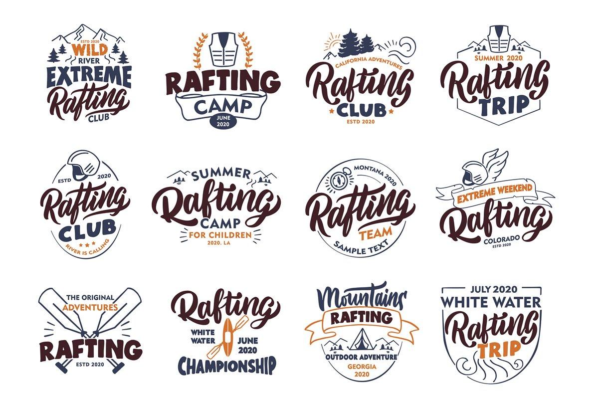Set of Rafting logos example image 1