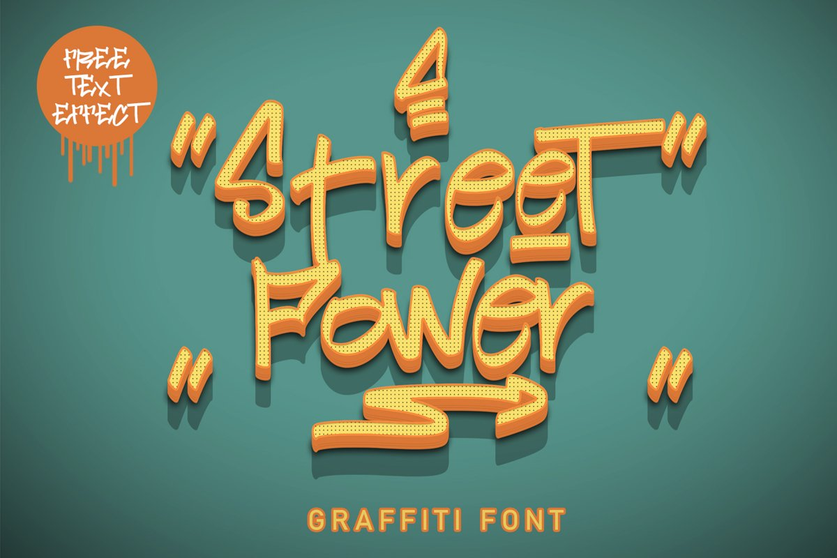 Street Power | Graffiti Font example image 1