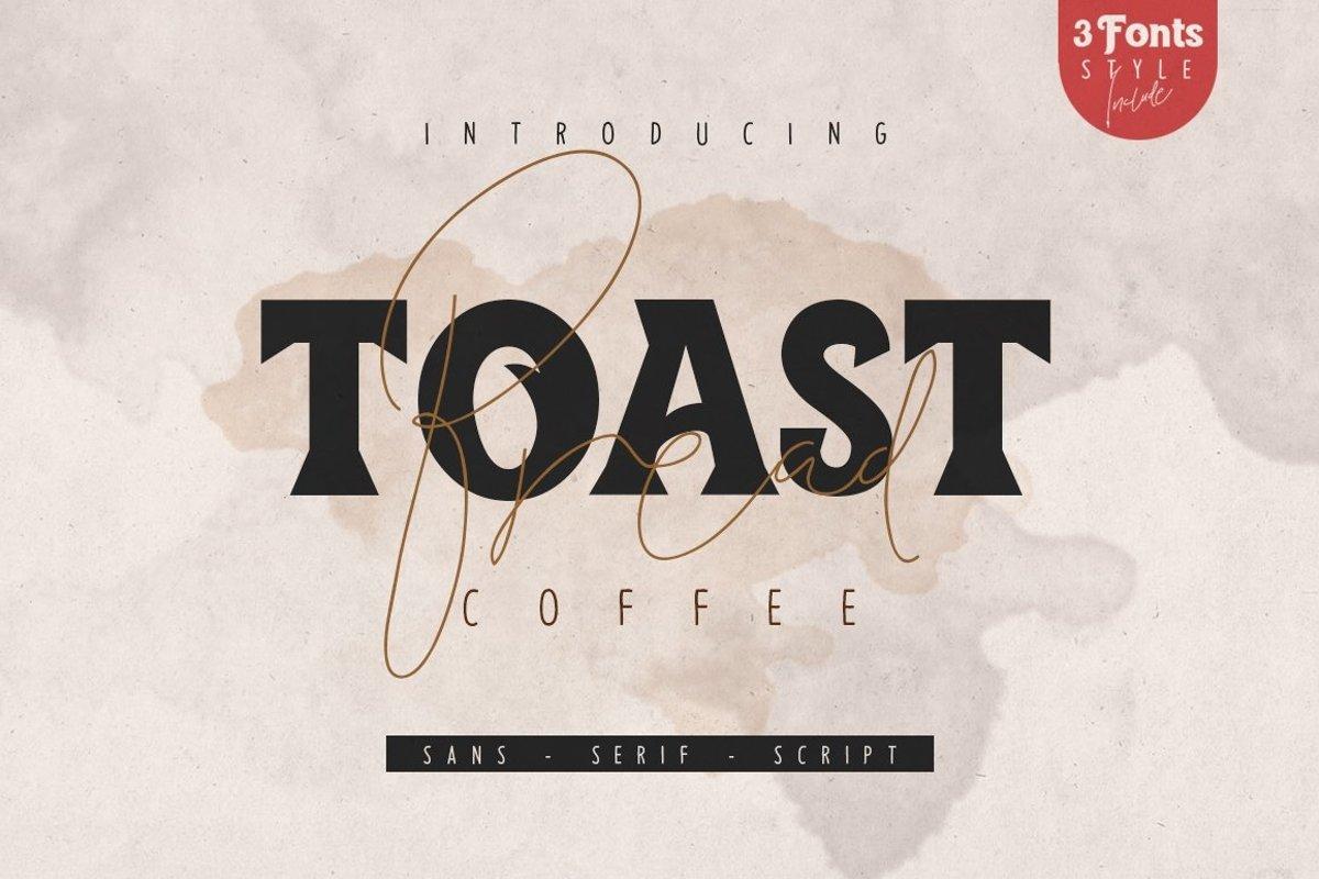 Toast Bread Coffee Typeface example image 1