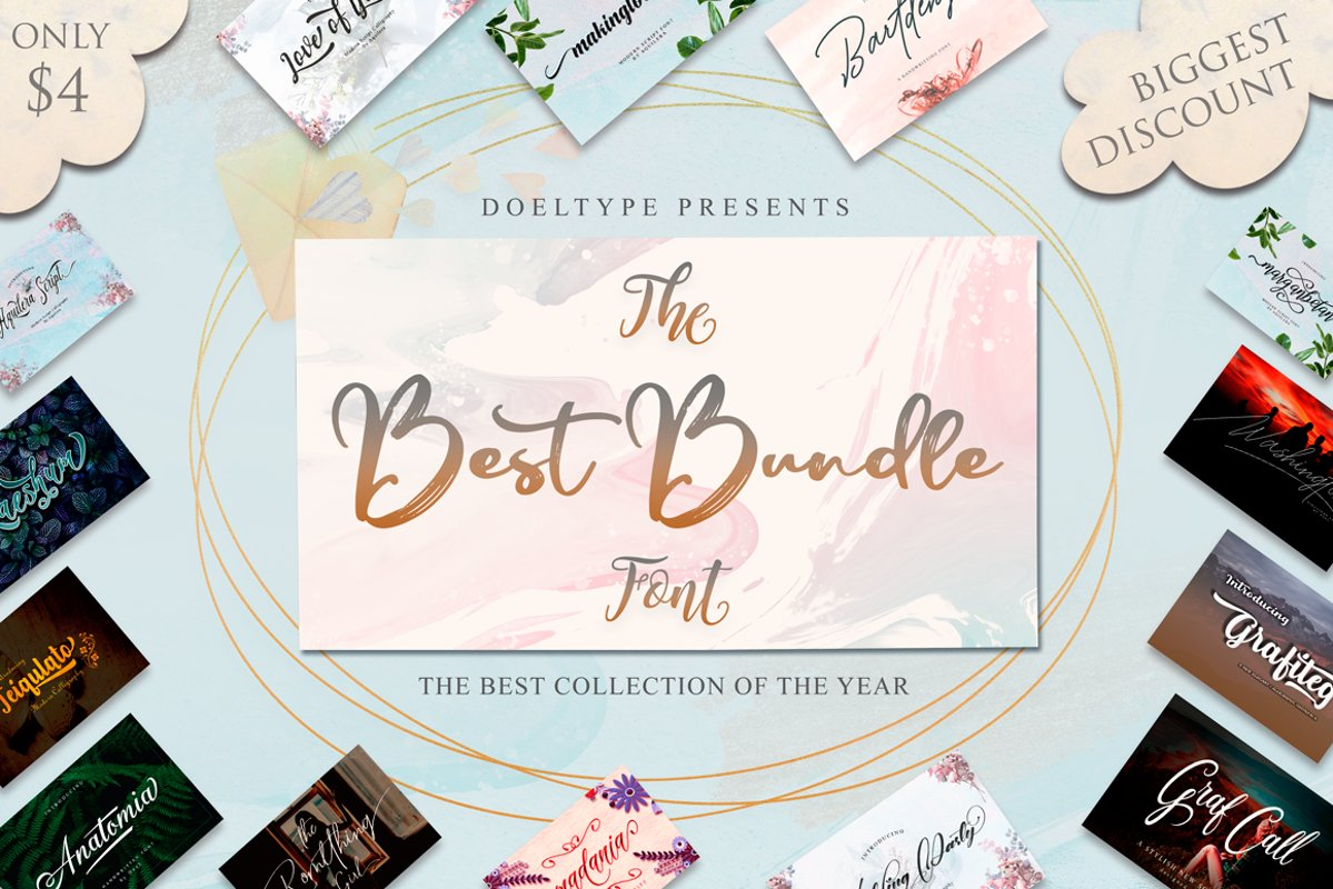 The Best Font Bundle Collection example image 1