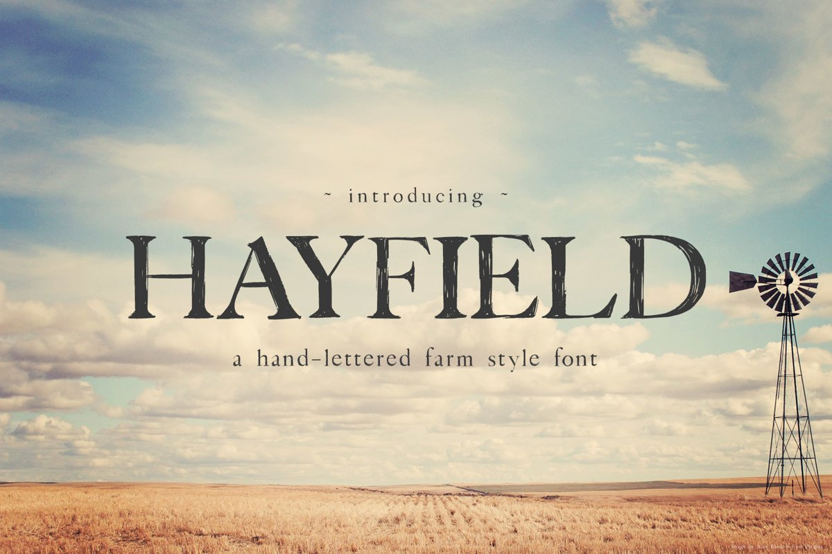 Hayfield Hand Lettered Font example image 1