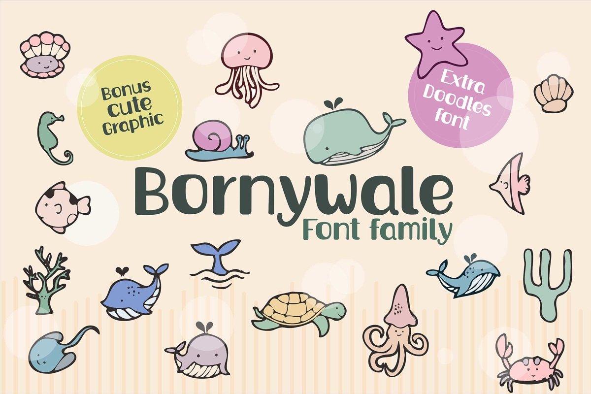Bornywale font family example image 1