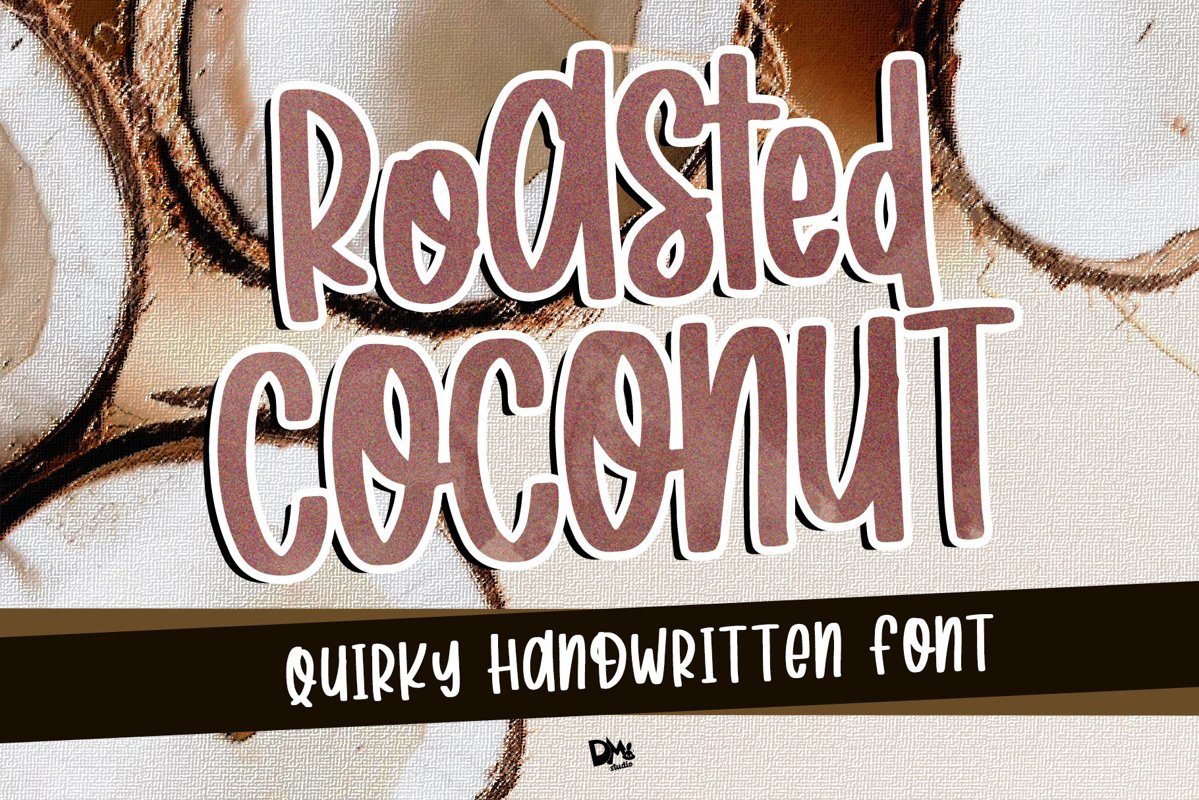Roasted Coconut - Quirky Handwritten Font example image 1