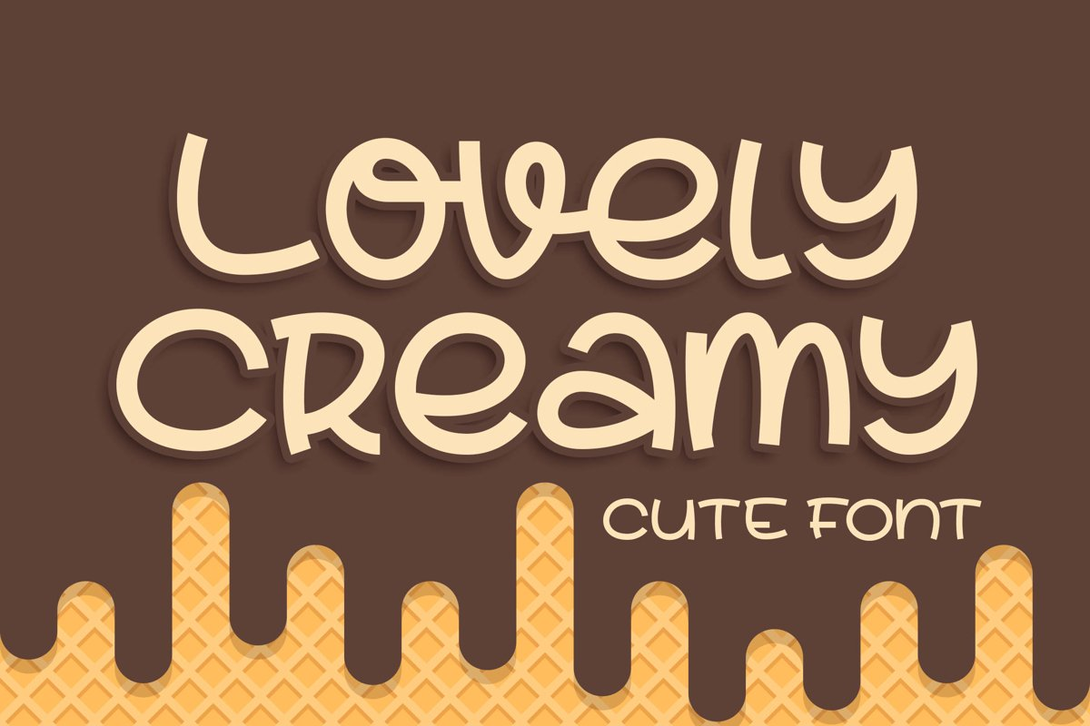Lovely Creamy a Cute Font example image 1