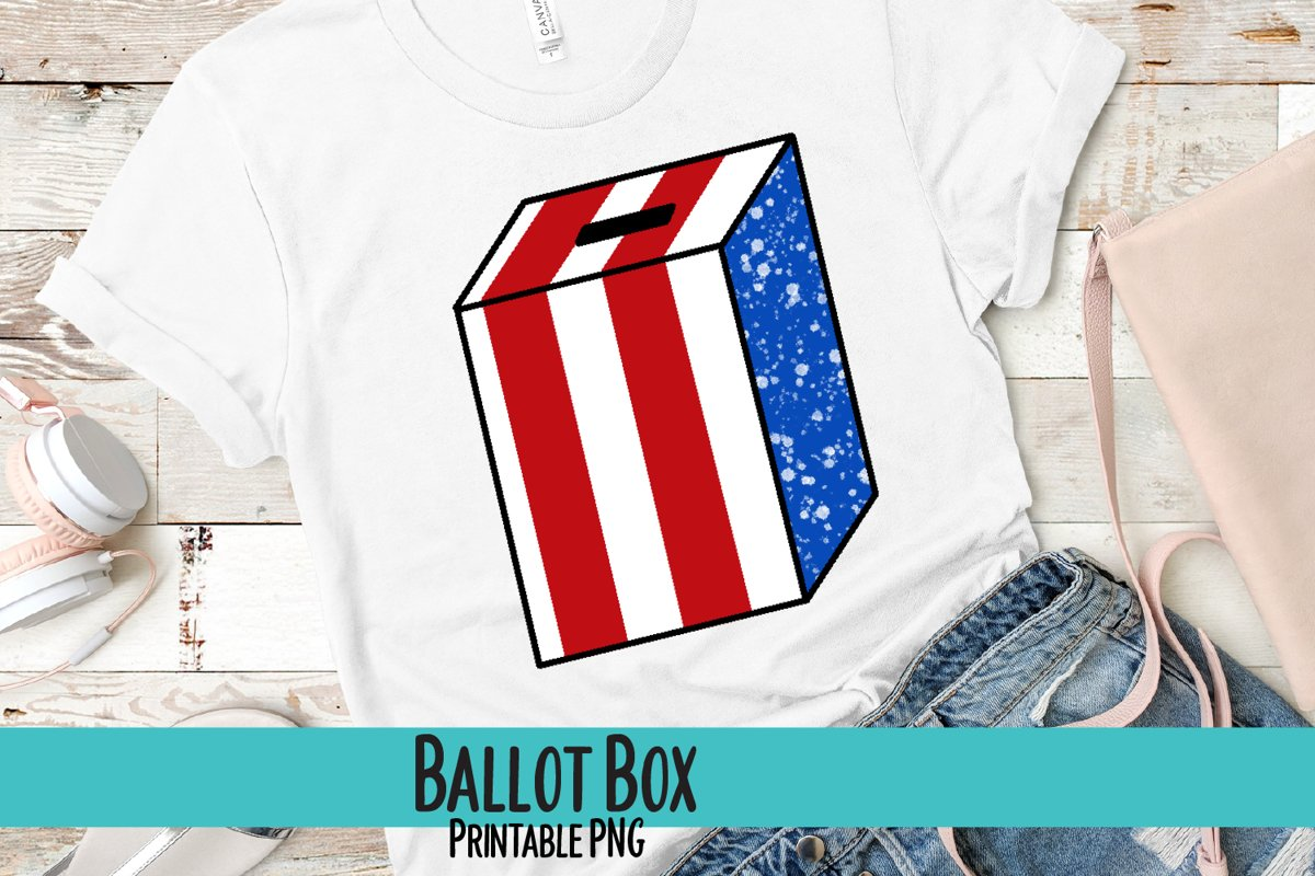 Ballot Box Sublimation PNG example image 1
