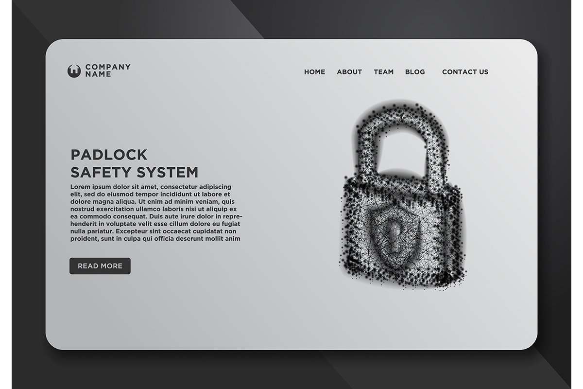 Web page design templates collection of lock, padlock, safet example image 1