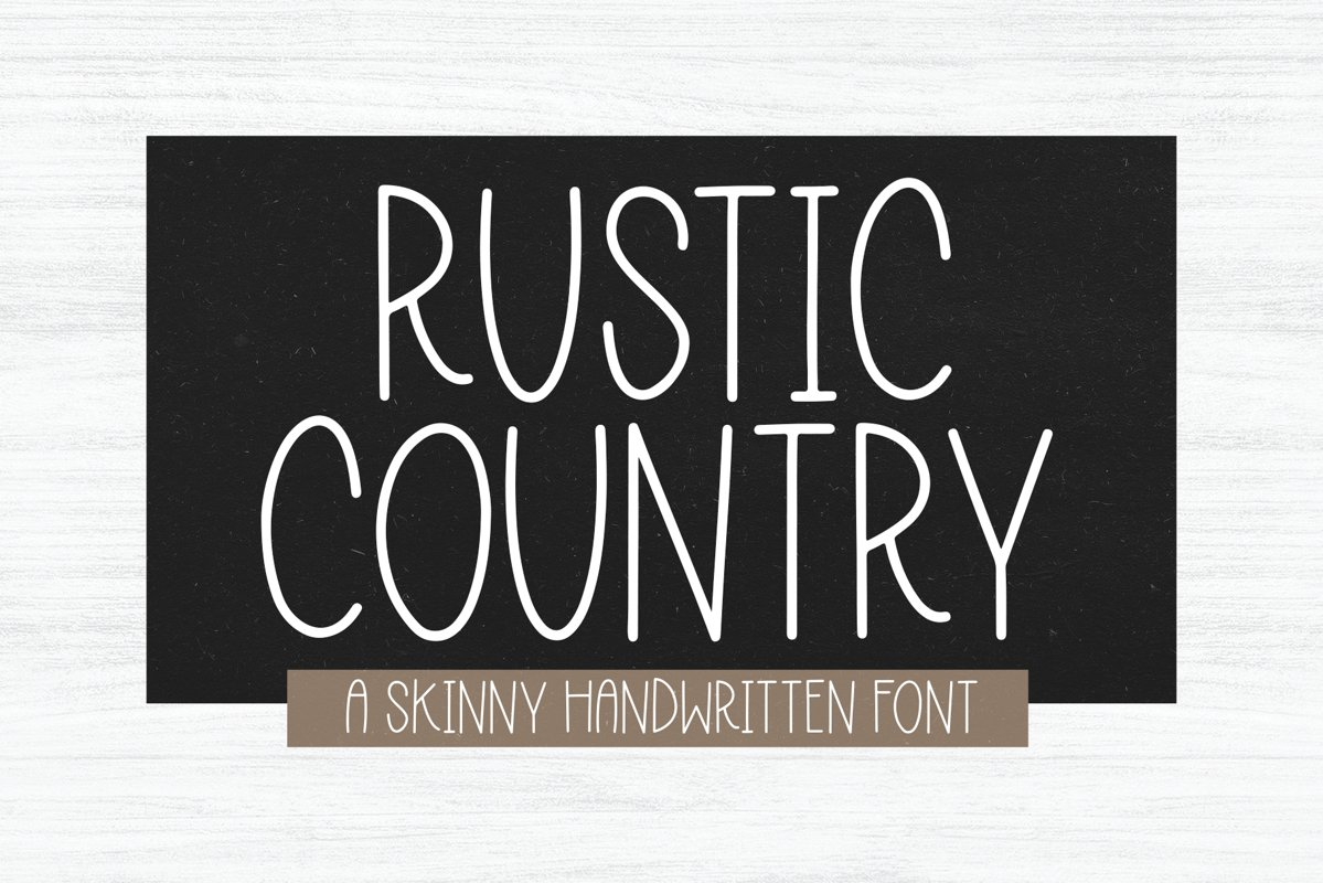 Rustic Country - A Handwritten Font example image 1