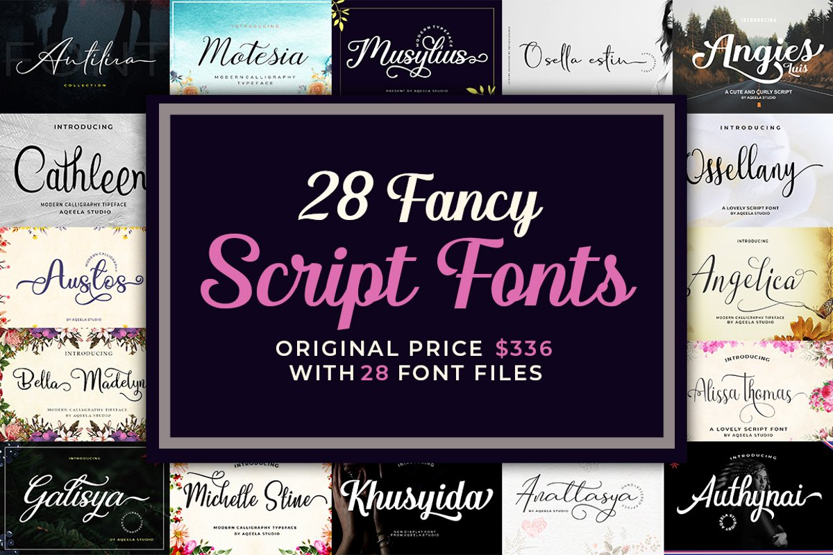 28 Fancy Script Fonts example image 1