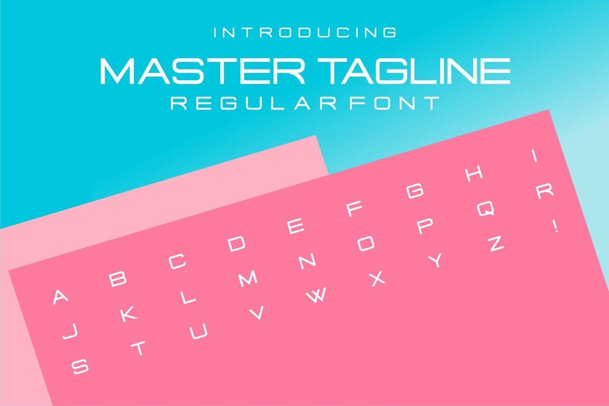 Master Tagline Logo Font example image 1