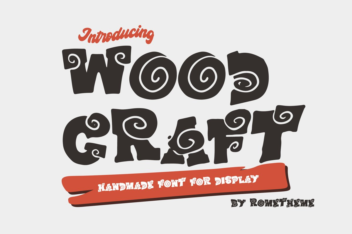 Wood Craft - Handmade Display Font example image 1