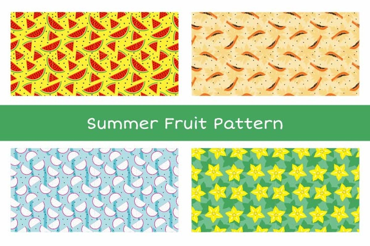 Summer Fruit Seamless Pattern Vol. 1 example image 1