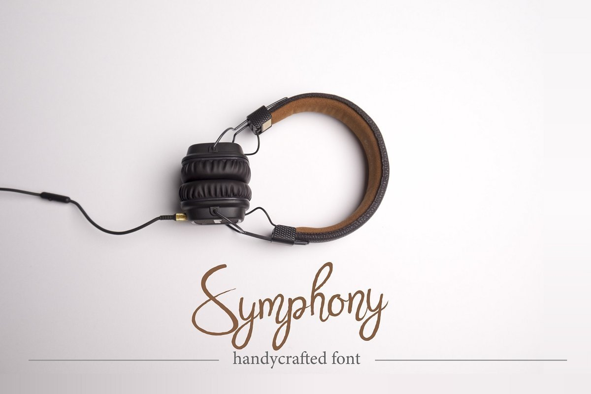 Symphony. Handycrafted font example image 1