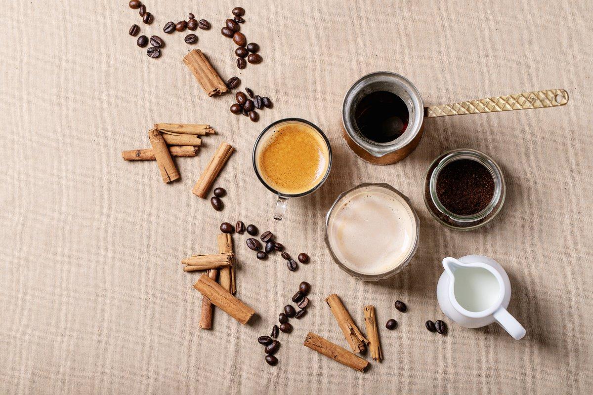 Fresh coffee with cinnamon example image 1