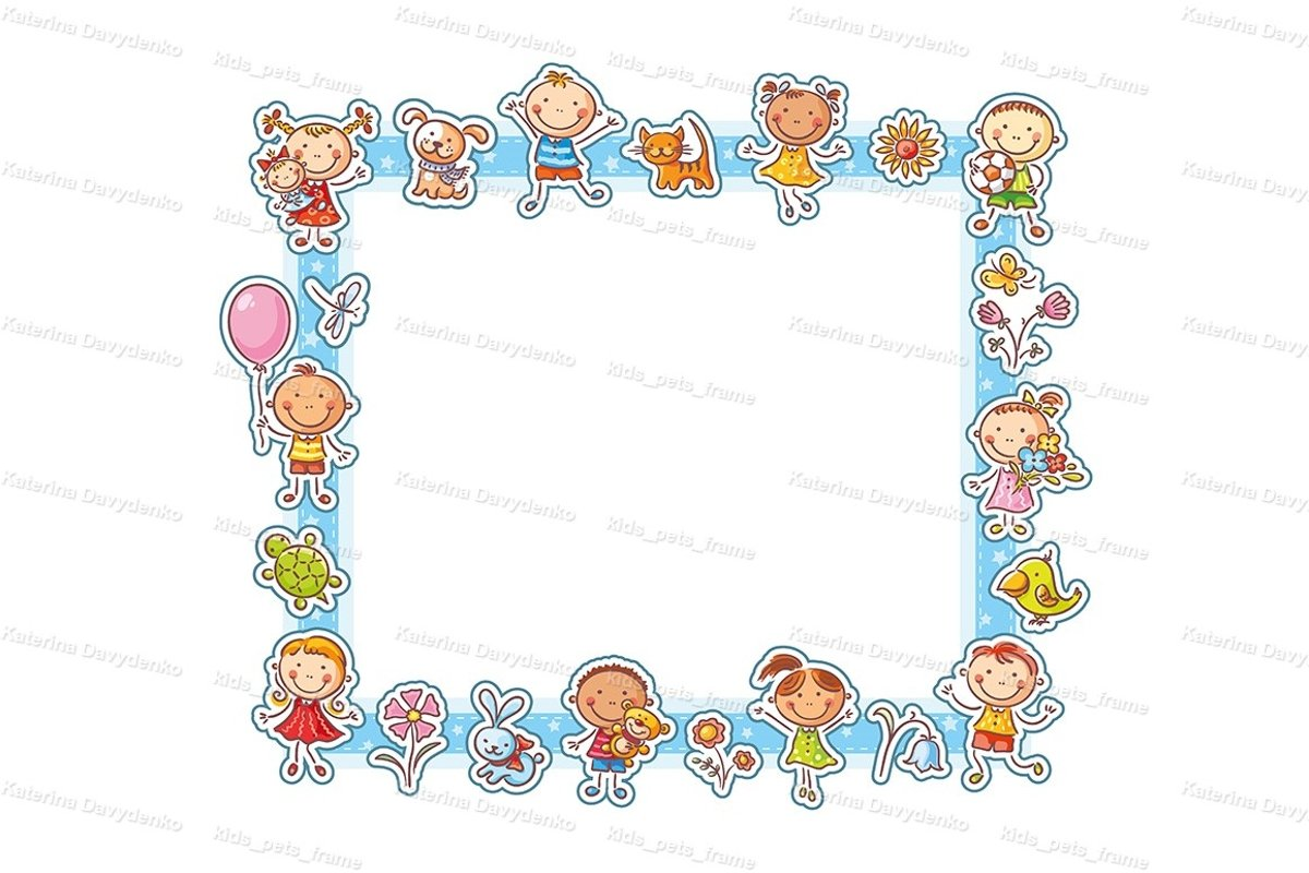 Happy Kids Rectangular Frame example image 1