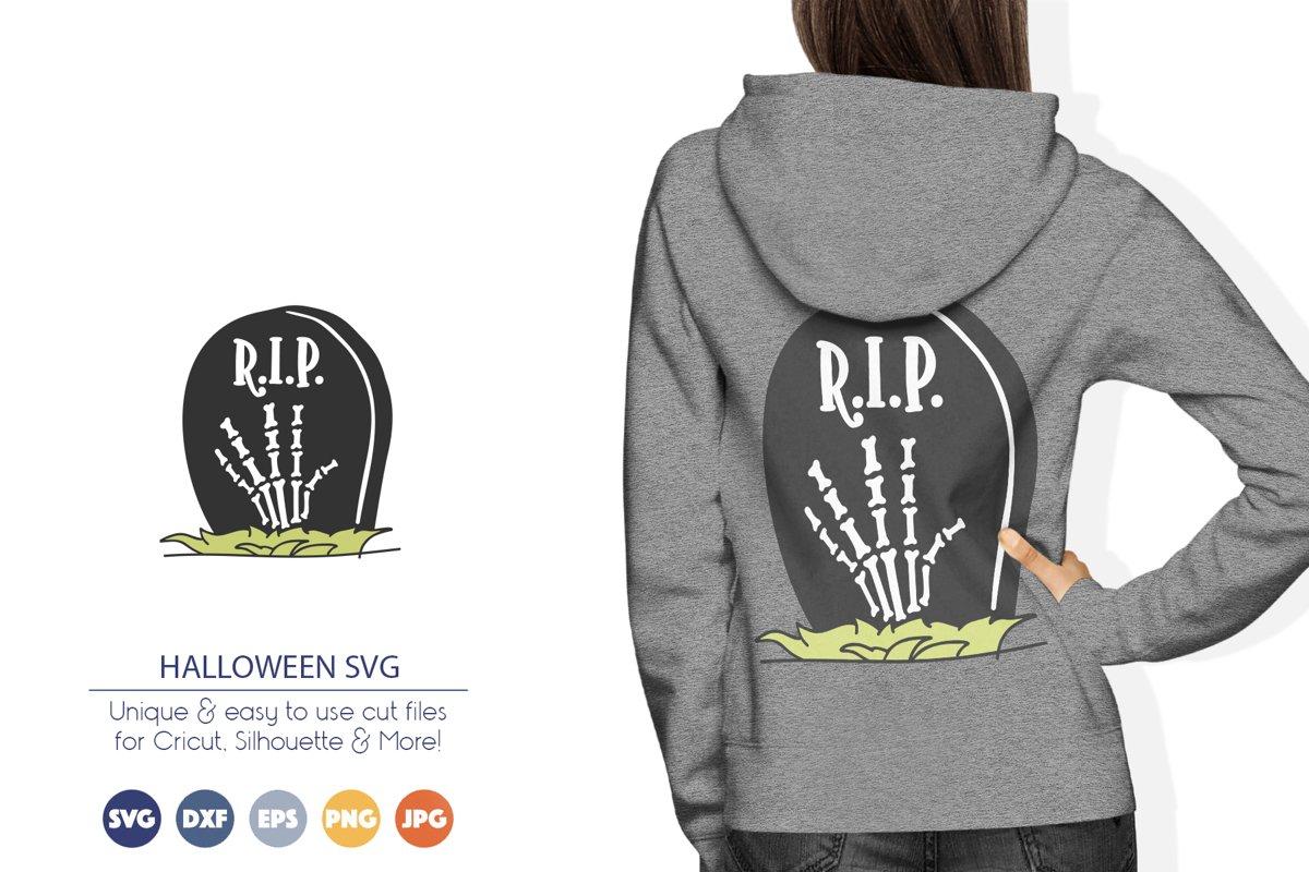 Skeleton Hand SVG   Halloween SVG Cut File example image 1