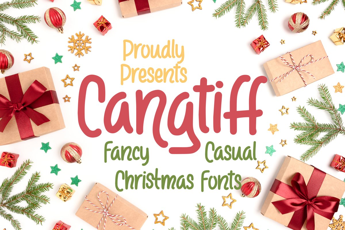 Cangtiff - fancy Chrismas Font example image 1
