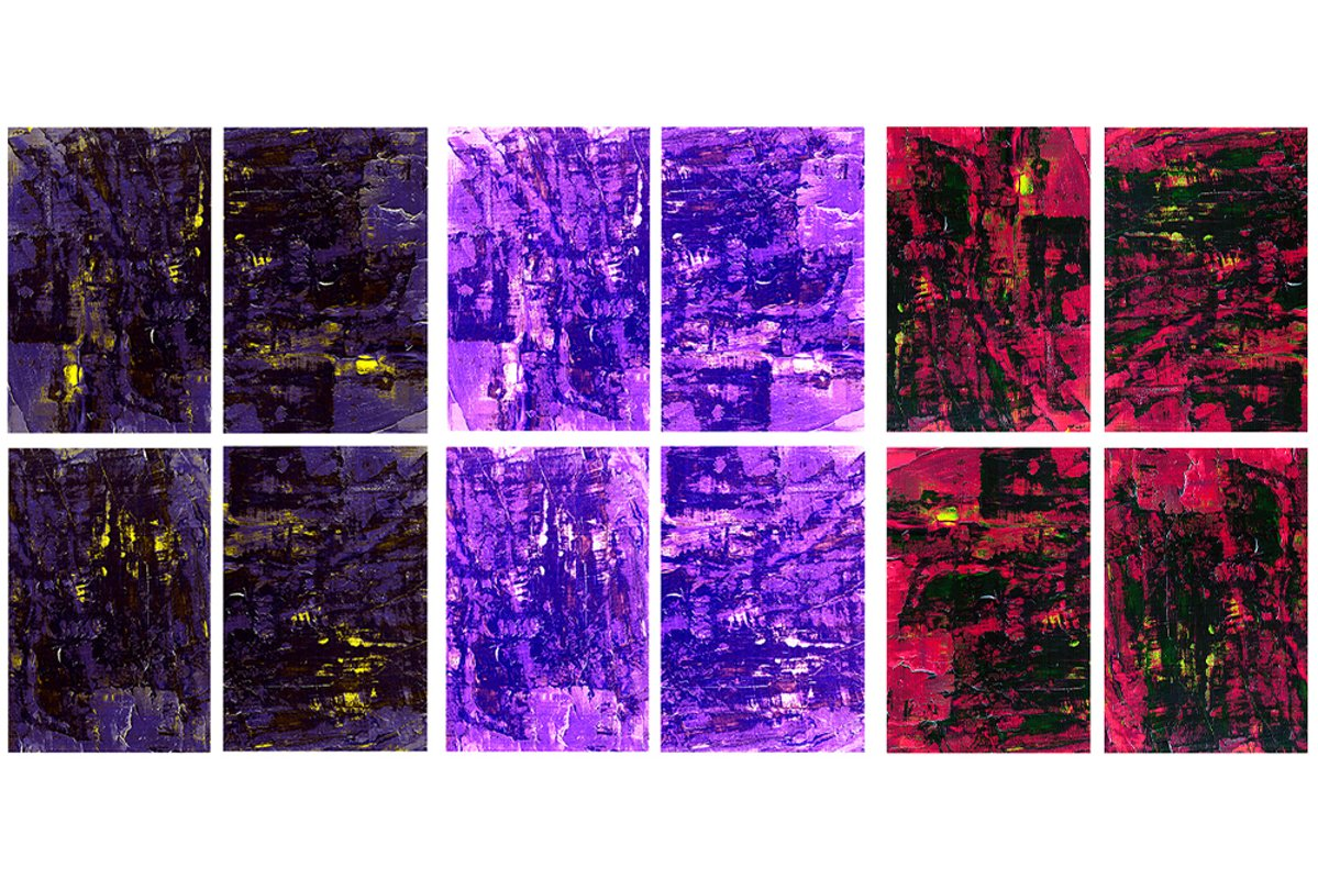 Set of 12images. Abstract art background. Acrylic painting example image 1