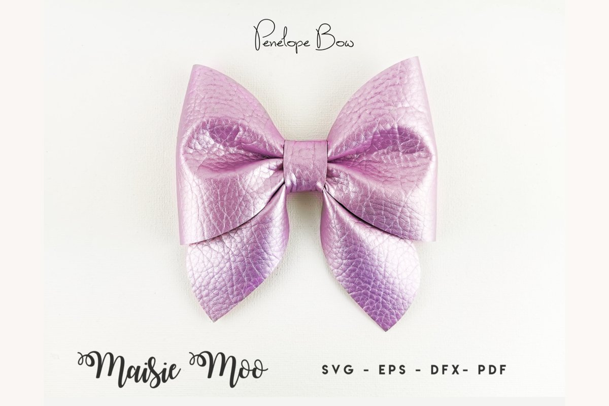 Pinch Bow Template SVG, Sailor Bow PDF, Hair Bow Template, example image 1