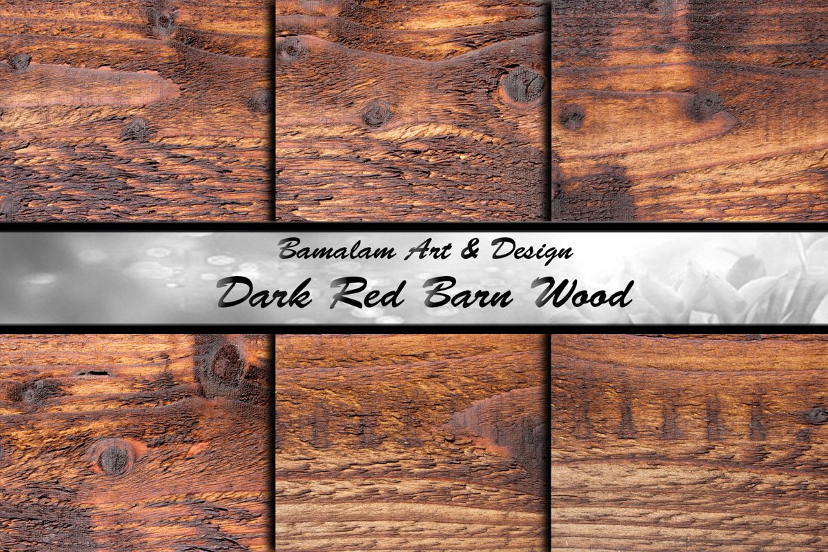 Dark Red Barn Wood Textures example image 1