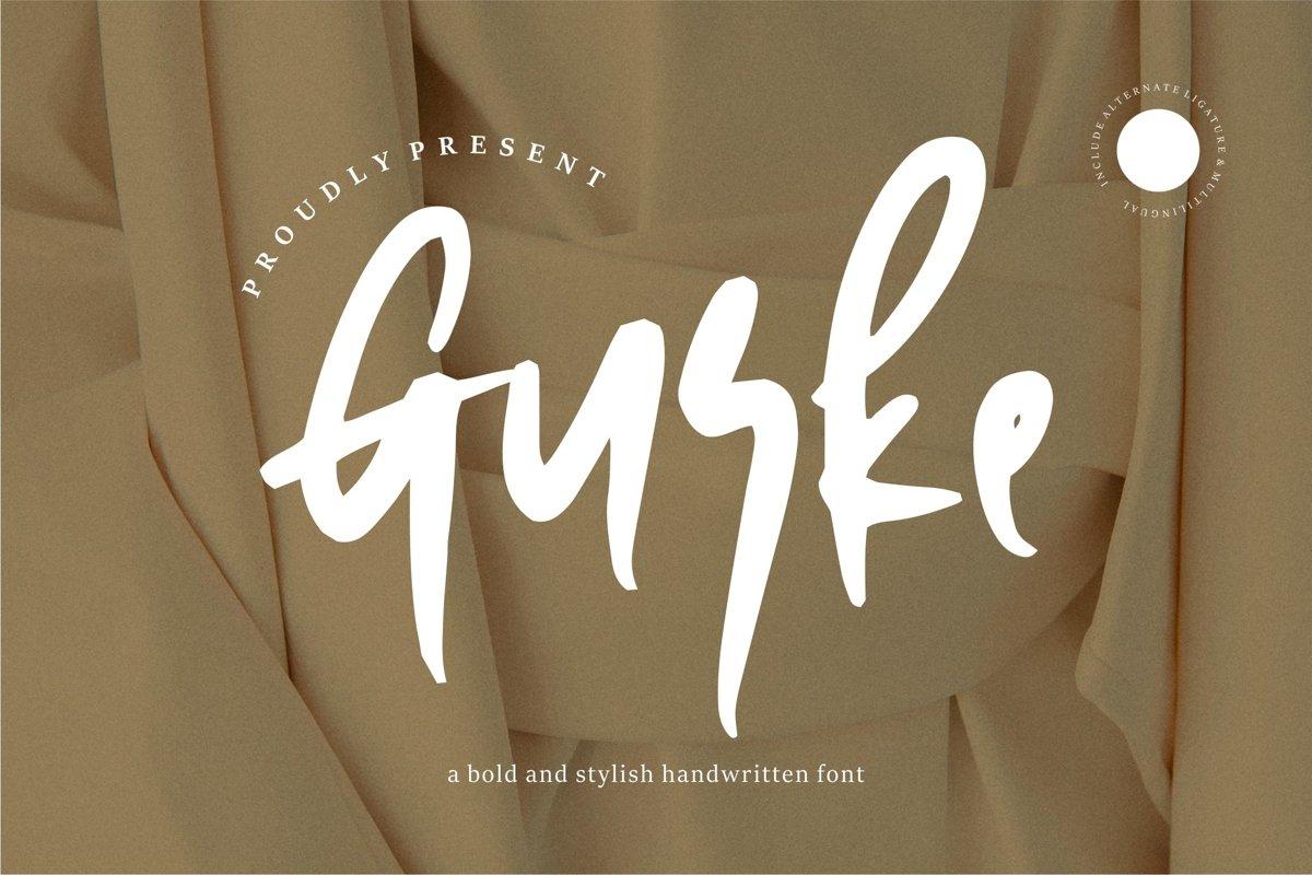 Gurke - Bold & Stylish Handwritten Font example image 1