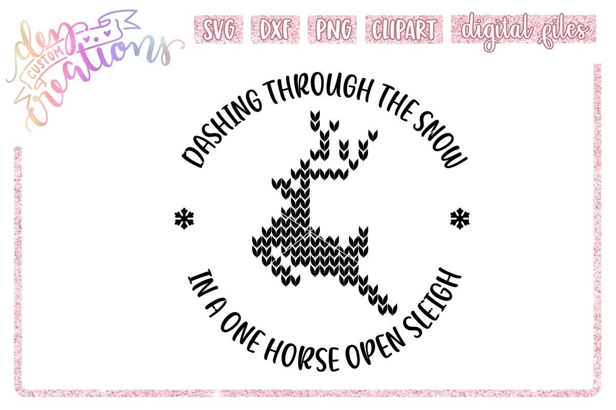 Dashing Through The Snow Svg Dxf Png Digital Craft File 411238 Cut Files Design Bundles
