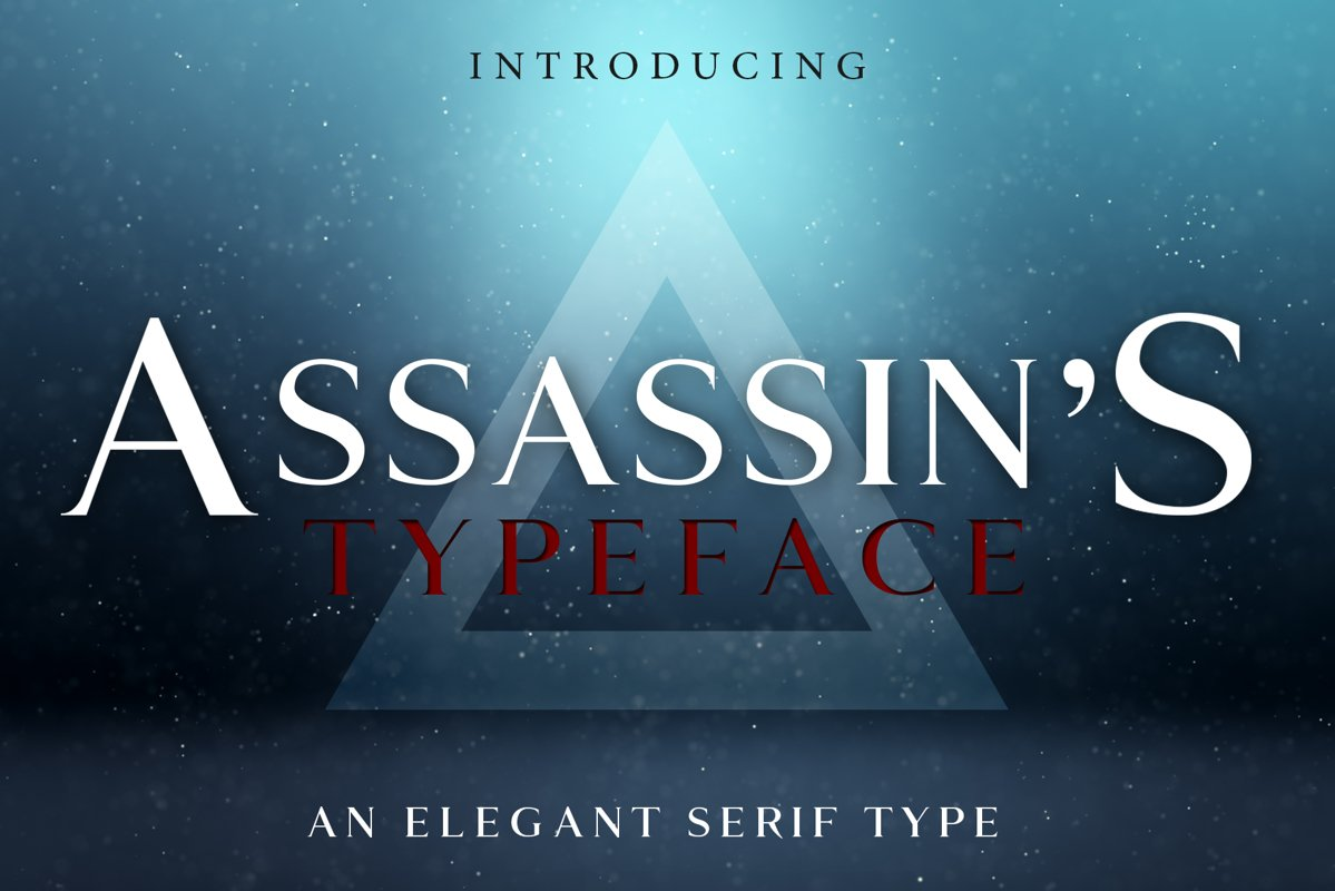 ASSASSIN'S - An Elegant Typeface example image 1