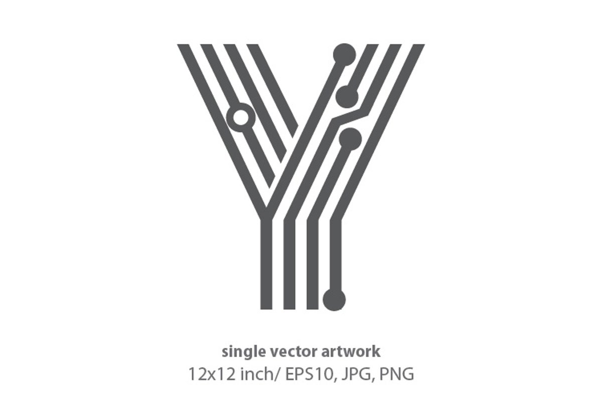 digital letter y- single vector artwork example image 1