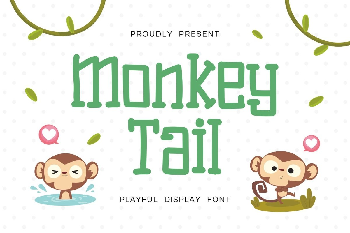 Monkey Tail - Playful Display Font example image 1