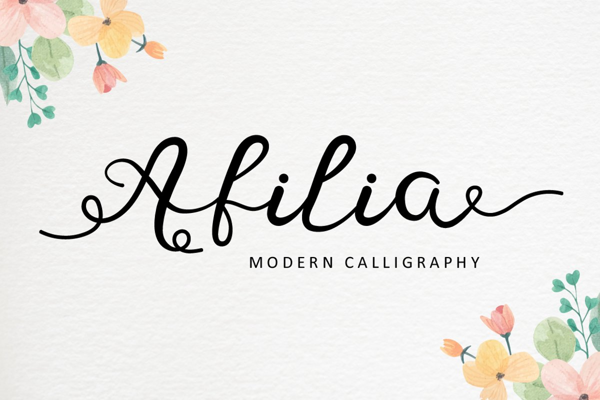 Afilia - Modern Calligraphy example image 1