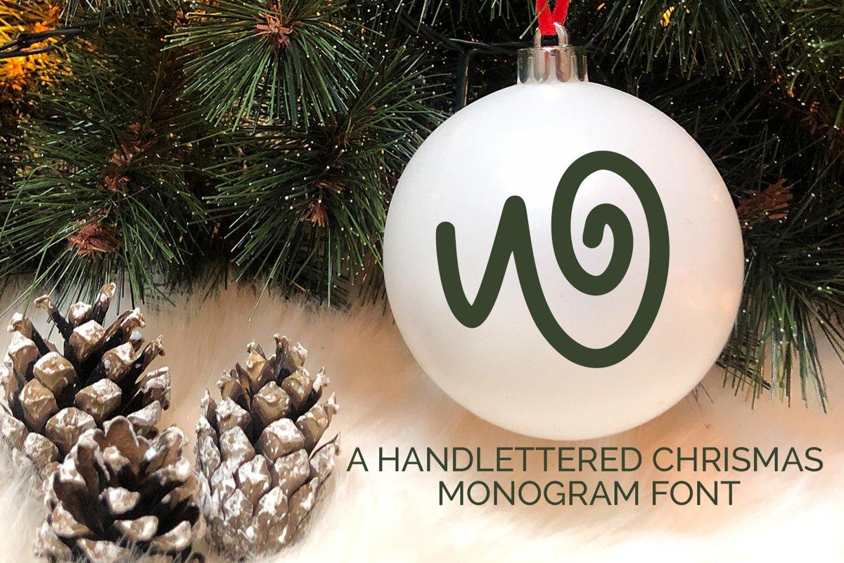 Christmas Love - Christmas Monogram Font example image 1