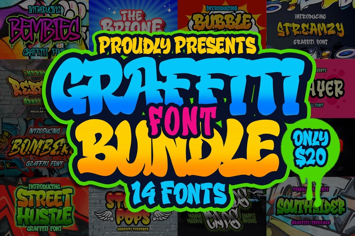 Graffiti Font Bundle Free Download
