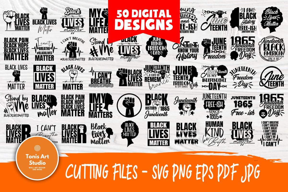 Black Lives Matter SVG Bundle, Juneteenth Svg, Black History example image 1