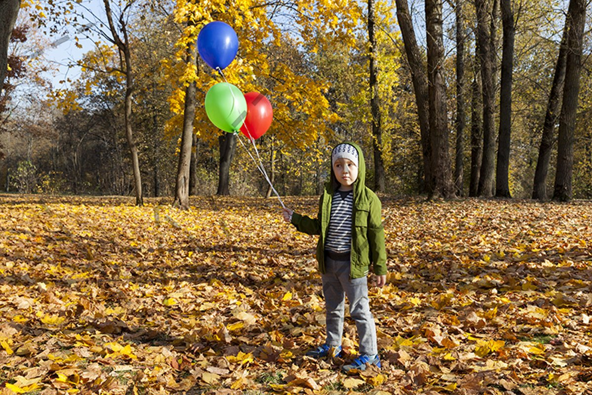 boy walking in autumn park example image 1