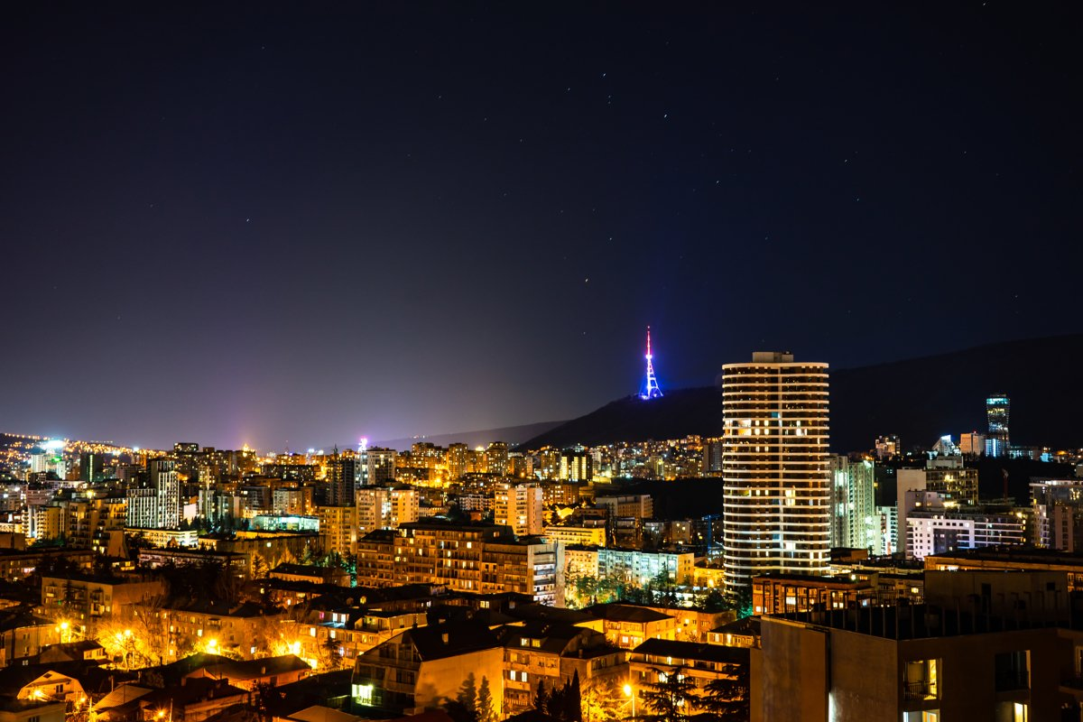 Tbilisi city in the night example image 1