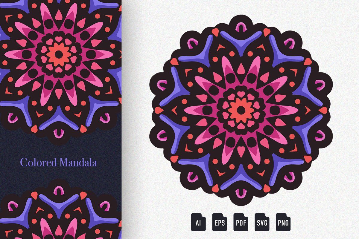Colored Mandala Art 07 example image 1