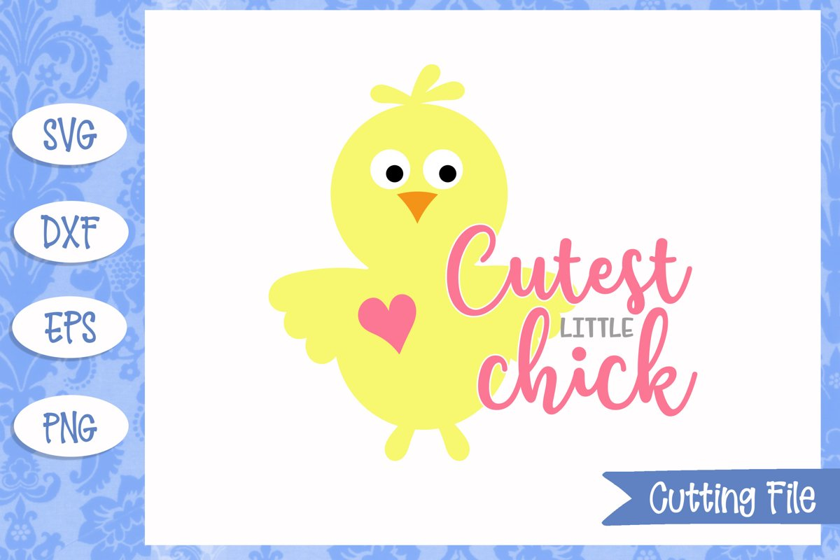 Cutest little chick Easter SVG Files example image 1