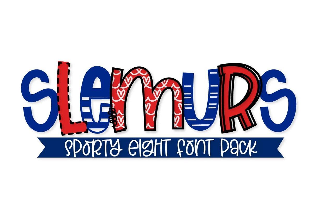 Slemurs - A Sporty Eight Font Mix & Match Bundle example image 1