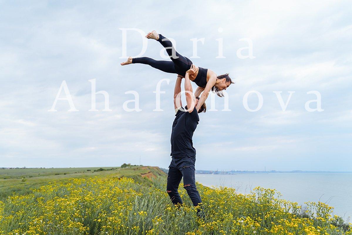 Lifestyle acroyoga and yoga poses example image 1