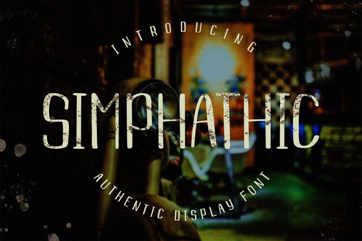 Simphathic Authentic Display Font example image 1