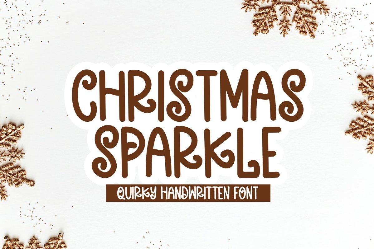 Christmas Sparkle - A Fun Handwritten Font example image 1