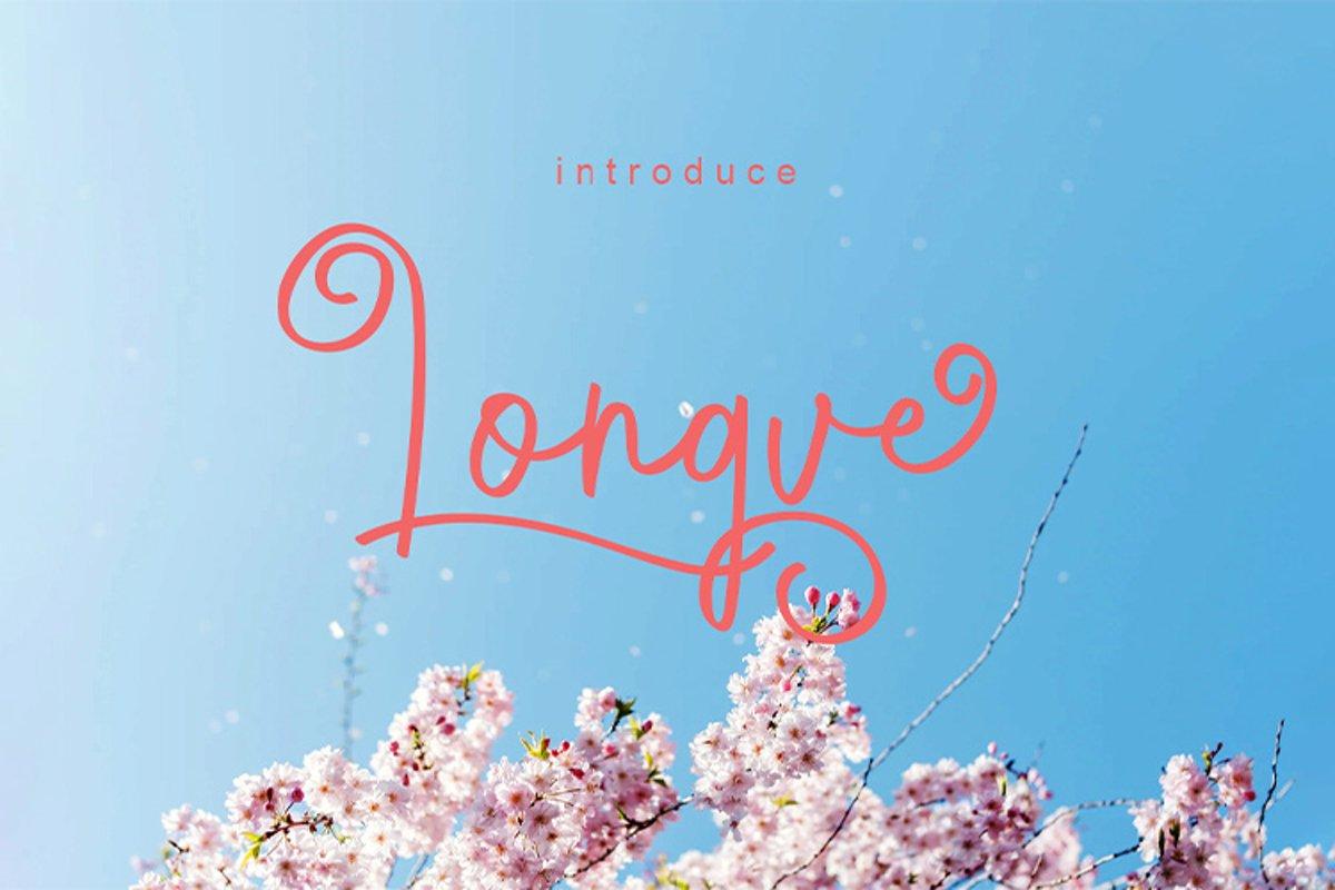 Longve    Elegant Handwriting Font example image 1