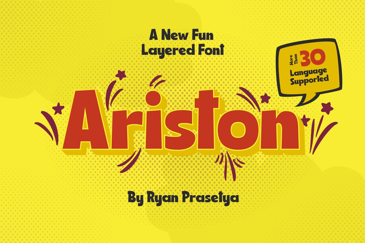 Ariston Comic LayeredFont example image 1