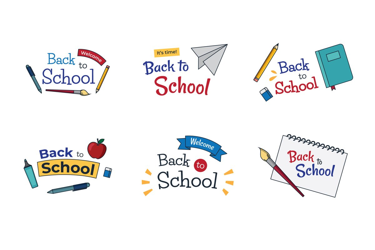 Hand Drawn Back to School Badges example image 1