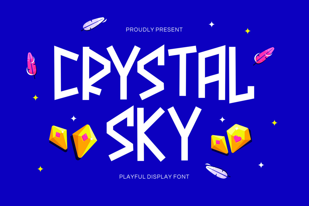 Crystalsky - Playful Display Font example image 1