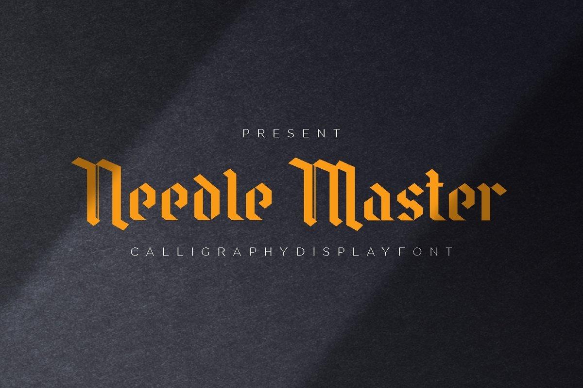 Needle Master Display Font example image 1