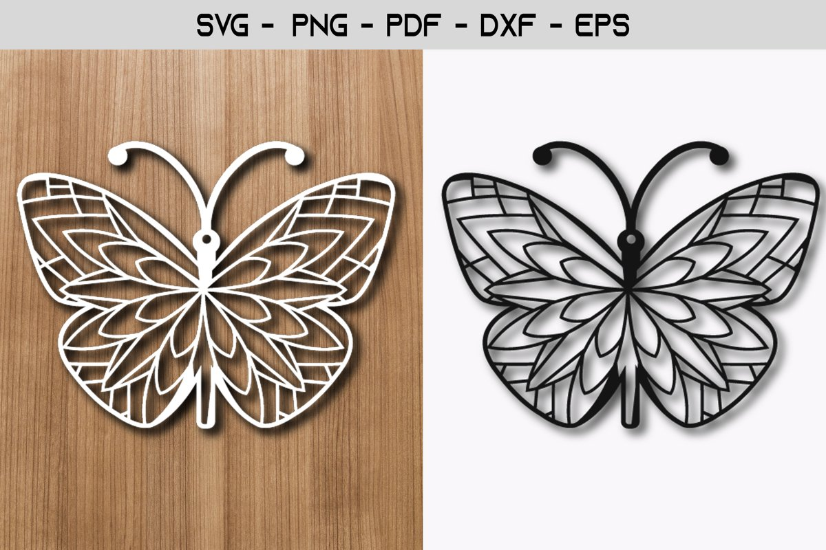 Butterfly Paper Template SVG design example image 1