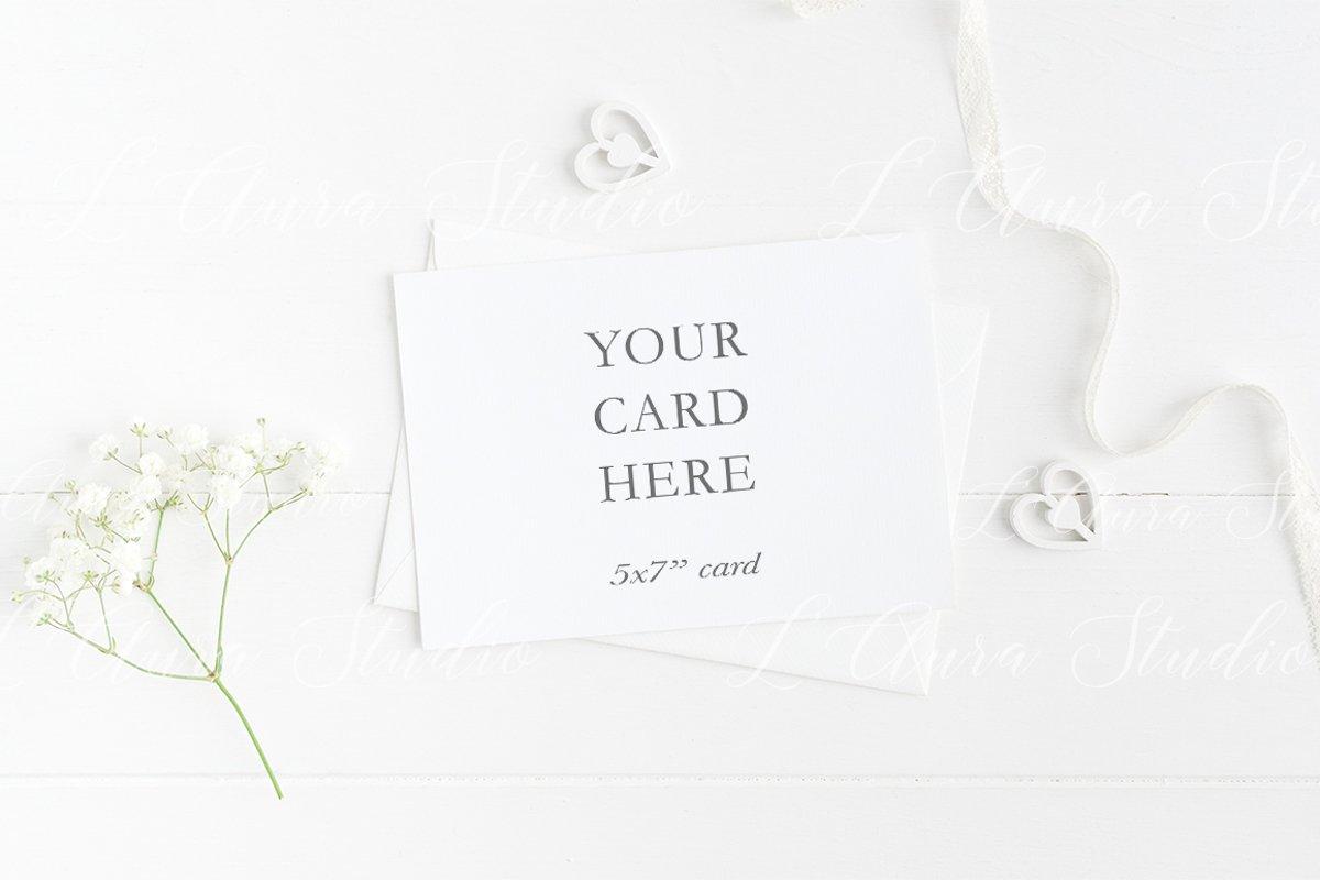 Invitation card mockup - 5x7 wedding example image 1
