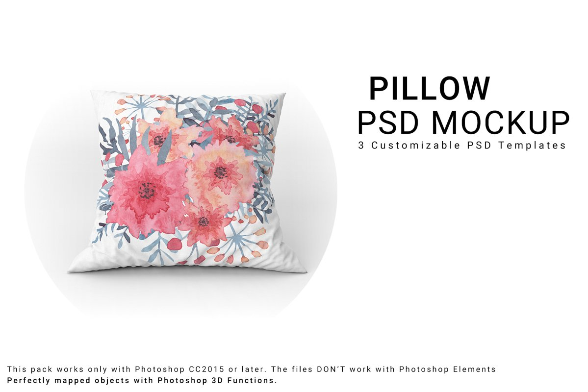 Throw Pillows Mockup Set example image 1
